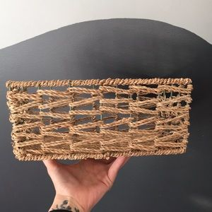 Basket weaved with cord rectangle